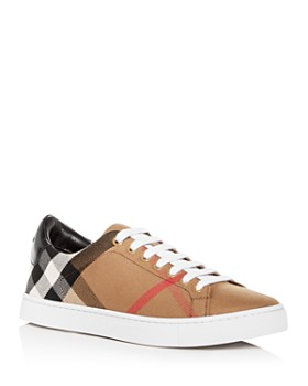 Burberry - Men's Albert Check Canvas Low Top Sneakers
