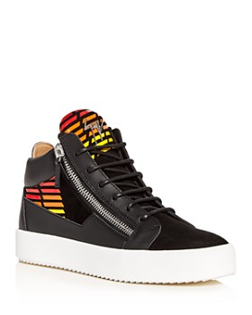 733cf5f5fc9a8 Giuseppe Zanotti - Men's Leather Mid-Top Sneakers ...