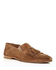 Salvatore Ferragamo - Men's Convertible Apron-Toe Suede Loafers