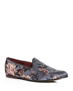Ted Baker - Men's Vihan Floral Jacquard Smoking Slippers