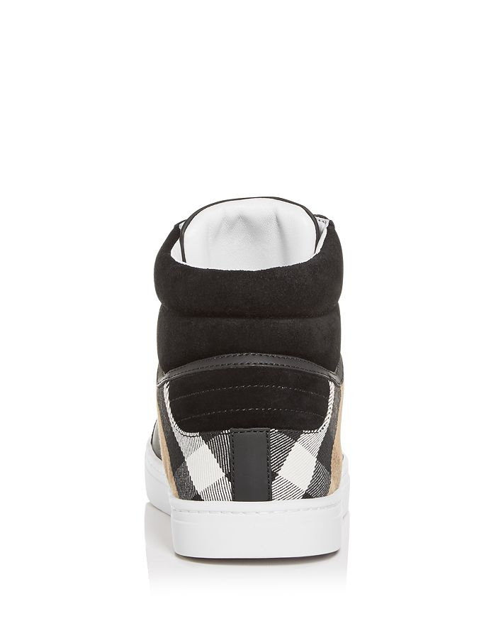 07b3e09efe5 Burberry - Men s Reeth Leather   Canvas High-Top Sneakers
