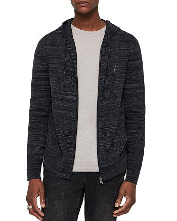 ALLSAINTS - Marlo Two-Tone Zip-Front Hoodie
