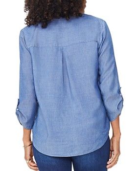 NYDJ - Chambray Henley Blouse