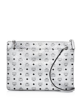 Mcm Monogram Print Medium Leather Crossbody