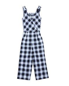 Habitual Kids - Girls' Kasie Sleeveless Plaid Jumpsuit - Big Kid
