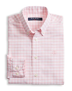 Brooks Brothers - Boys' Non-Iron Oxford Gingham Shirt - Big Kid
