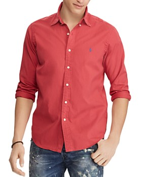 Polo Ralph Lauren - Garment-Dyed Slim Fit Button-Down Shirt ...