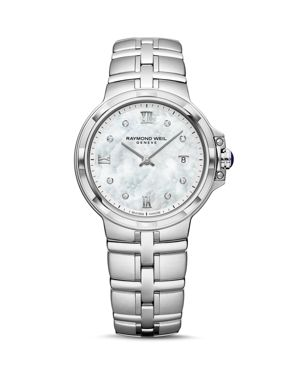 RAYMOND WEIL Parsifal Diamond Mother-Of-Pearl Watch, 30Mm in Silver
