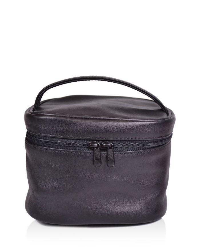 ROYCE New York Leather Top Handle Cosmetics Case  | Bloomingdale's