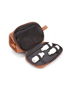 ROYCE New York - Leather Shaving Toiletry Travel Bag