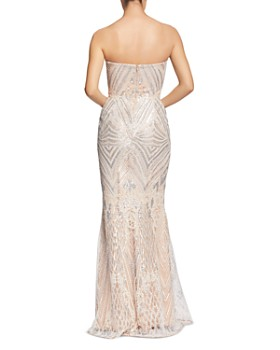 Dress the Population - Gretta Strapless Sequined Gown