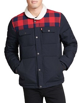 Levi's - Arctic Sherpa-Trimmed Quilted Woodsman Trucker Jacket