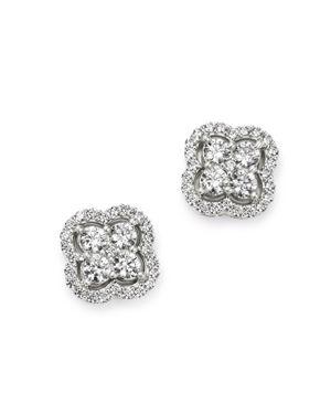 Bloomingdale's Diamond Clover Stud Earrings in 14K White Gold, 1.5 ct. t.w. - 100% Exclusive