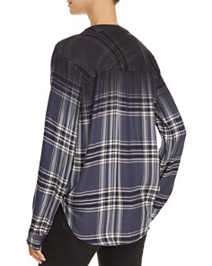 Splendid - Hyperion Dip-Dye Plaid Top