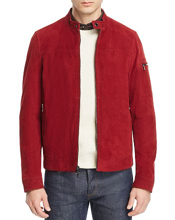 Michael Kors - Perforated Suede Racer Jacket