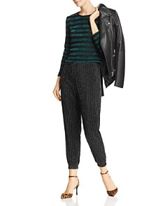 Honey Punch - Striped Chenille Cropped Sweater