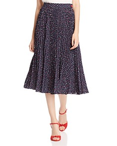 kate spade new york - Pleated Lip Print Skirt