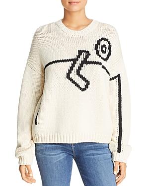 Tory Burch Merino-Wool Intarsia Sweater
