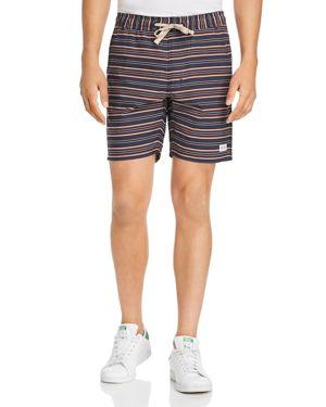 BANKS Apres Striped Walk Shorts in Dirty Denim