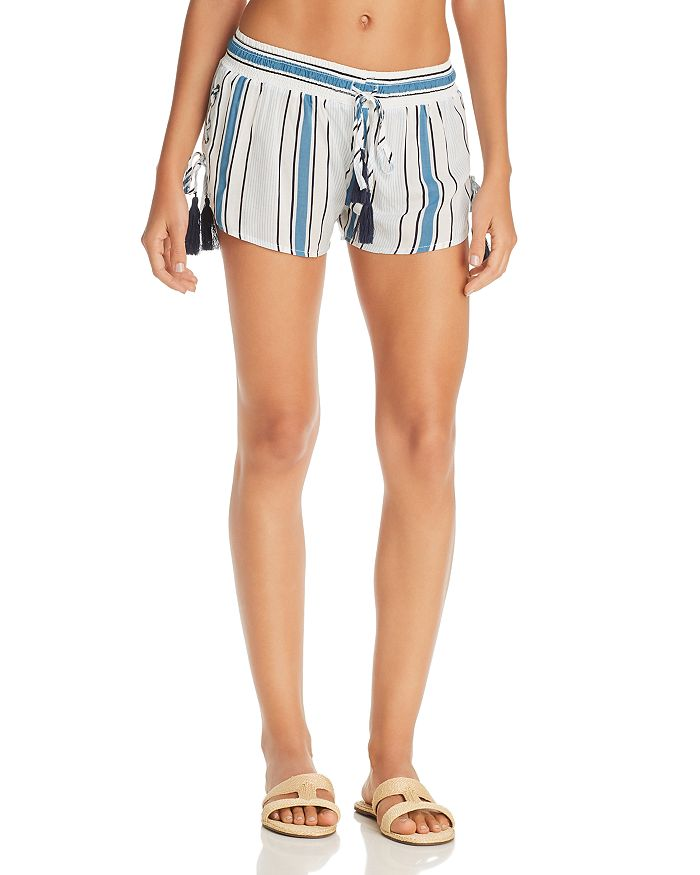 Surf Gypsy - Printed Side Lace-Up Swim Cover-Up Shorts