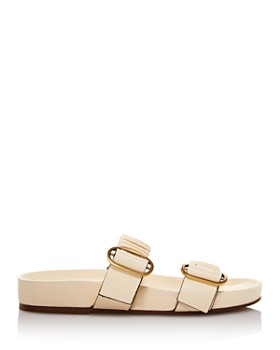 Stuart Weitzman - Women's Shalene Ruched Leather Sandals