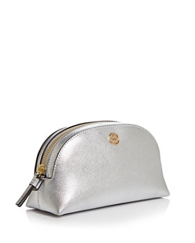 Tory Burch - Robinson Small Metallic Cosmetic Case