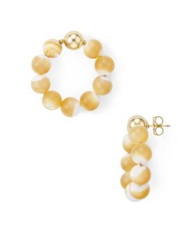 Beck Jewels - Beaded Frontal Hoop Earrings