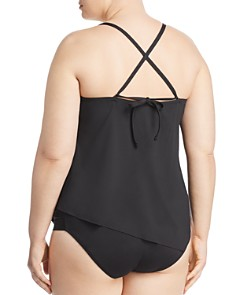 BECCA ETC by Rebecca Virtue - Color Code Wrap Tankini Top & Plus Color Code Side Tab Tankini Bottom