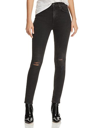 4cf2c5bc93f6 rag & bone/JEAN High-Rise Distressed Ankle Skinny Jeans in Rock With ...