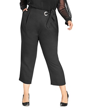 City Chic Plus - Twister Wrap Crop Pants