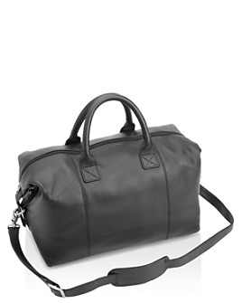 ROYCE New York - Leather Overnighter Duffel Bag