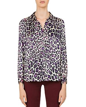 Gerard Darel Laetitia Leopard Print Button-Down Shirt