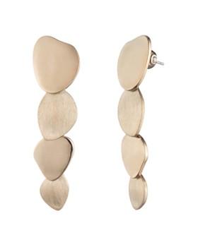 Carolee Layered Disc Drop Earrings