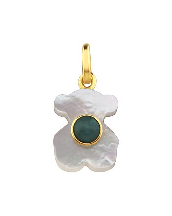 TOUS - 18K Yellow Gold Super Power Amazonite & Mother-Of-Pearl Bear Pendant