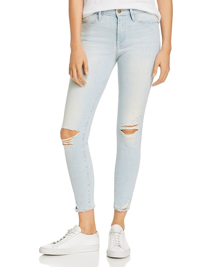 ffcebbf1fc0 FRAME Le High Distressed Skinny Jeans in Rush | Bloomingdale's