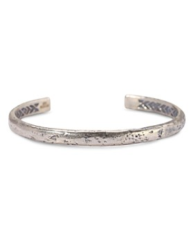 John Varvatos Collection - Sterling Silver Small Distressed Cuff