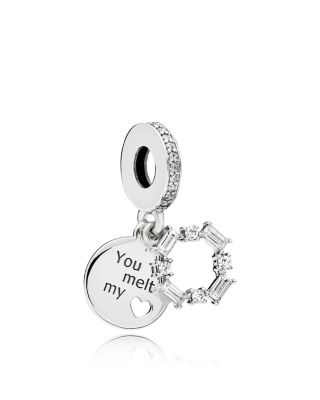 Sterling Silver, Enamel & Cubic Zirconia Ice Carving Charm by Pandora