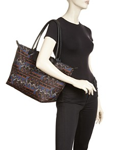 Longchamp - Le Pliage Large Ikat Nylon Tote