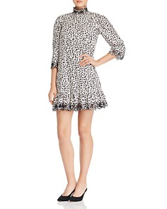Rebecca Taylor - Printed Embroidered Shift Dress