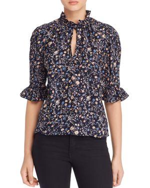Rebecca Taylor Vivianna Silk Floral-Print Top