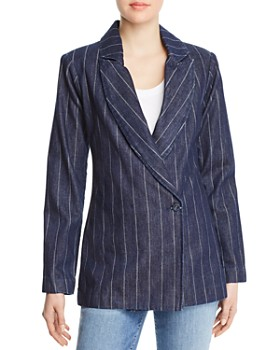 Parker Smith - Phoebe Pinstripe Denim Blazer