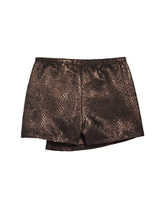 AQUA - Girls' Metallic Faux-Wrap Skort, Big Kid - 100% Exclusive