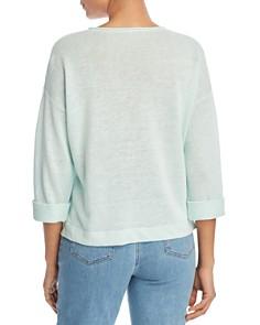Eileen Fisher - Cuffed Organic Linen Sweater
