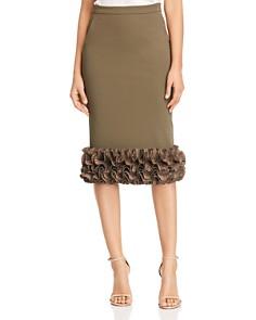 Max Mara - Zircone Ruffled Hem Midi Skirt