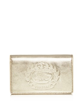 Burberry - Saville Crest Leather Wallet