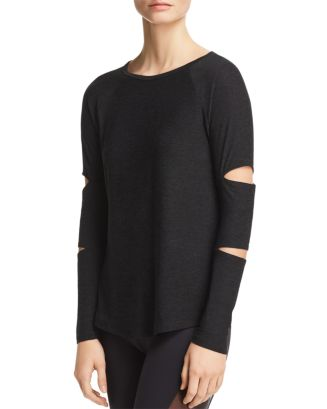 Beyond Yoga Slashed Sleeve Tee