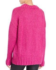 FRENCH CONNECTION - Snuggle Knits Openwork Crewneck Sweater