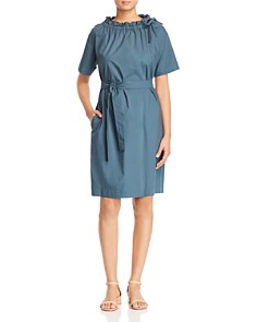 Weekend Max Mara - Dedalo Ruffled Collar Cotton Dress