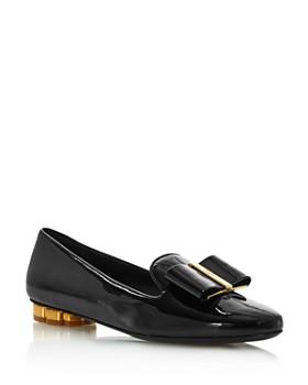 3dcf6d54ff Salvatore Ferragamo - Women s Sarno Flower Heel Loafers ...