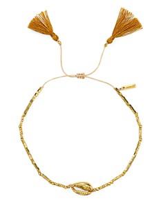 Chan Luu - Tasseled Shell Station Bracelet in 18K Gold-Plated Sterling Silver